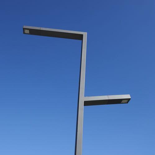 Urban Lamp Post Contemporary Metal Led Gemini Larus