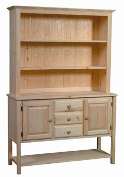 Pine Hutch Unfinished Furniture New Jersey New York And