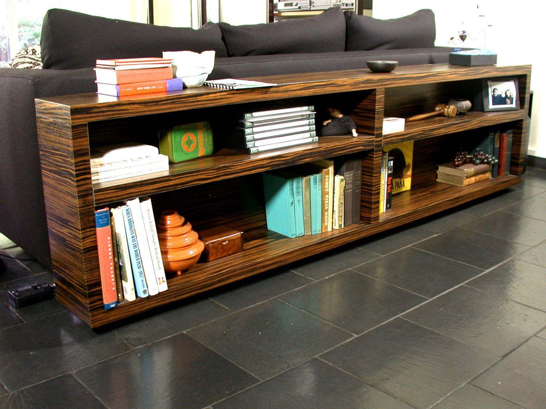 Modern Home Or Office Decor Dark Chocolate Brown Ebony Macassar Bookcase Console Bedroom 160000 Via Etsy