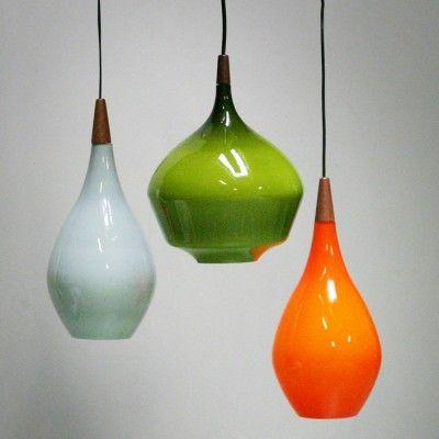 Hanging lamp by unknown designer for holmegaard