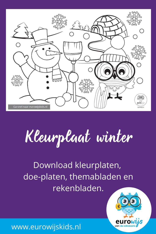 Kleurplaat Winter Eurowijs Gratis Kleurplaten Kleurplaten Winter