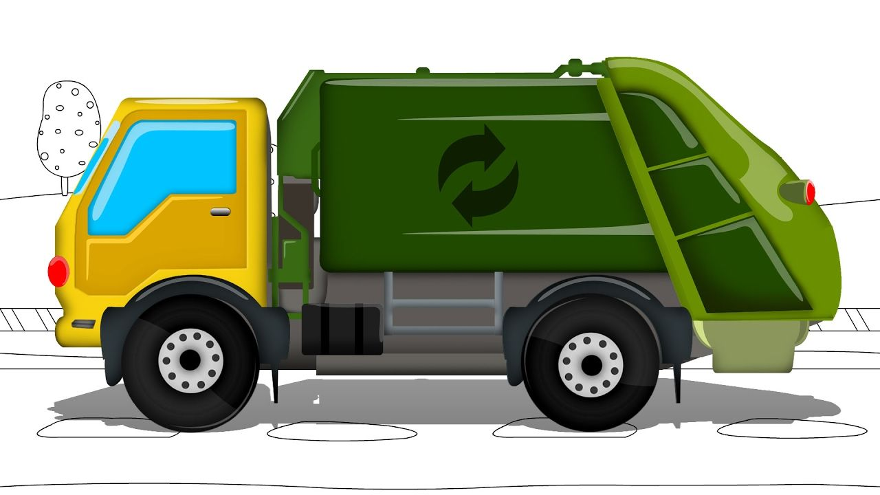 Get ready garbage truck coloring book - Garbage Truck