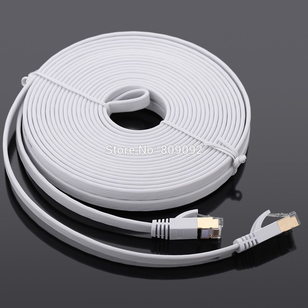 High Speed 10Gbps Cat7 SSTP RJ45 Network Flat Shielded Twisted Pair ...