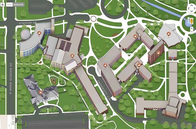 Niu 3 D Interactive Campus Map Niu Pinterest Campus Map