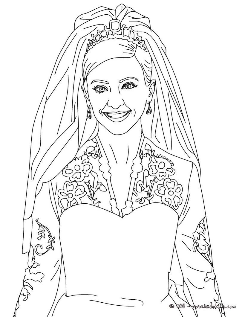 Kate Middleton coloring page. More Kate and Wiliam content on ...