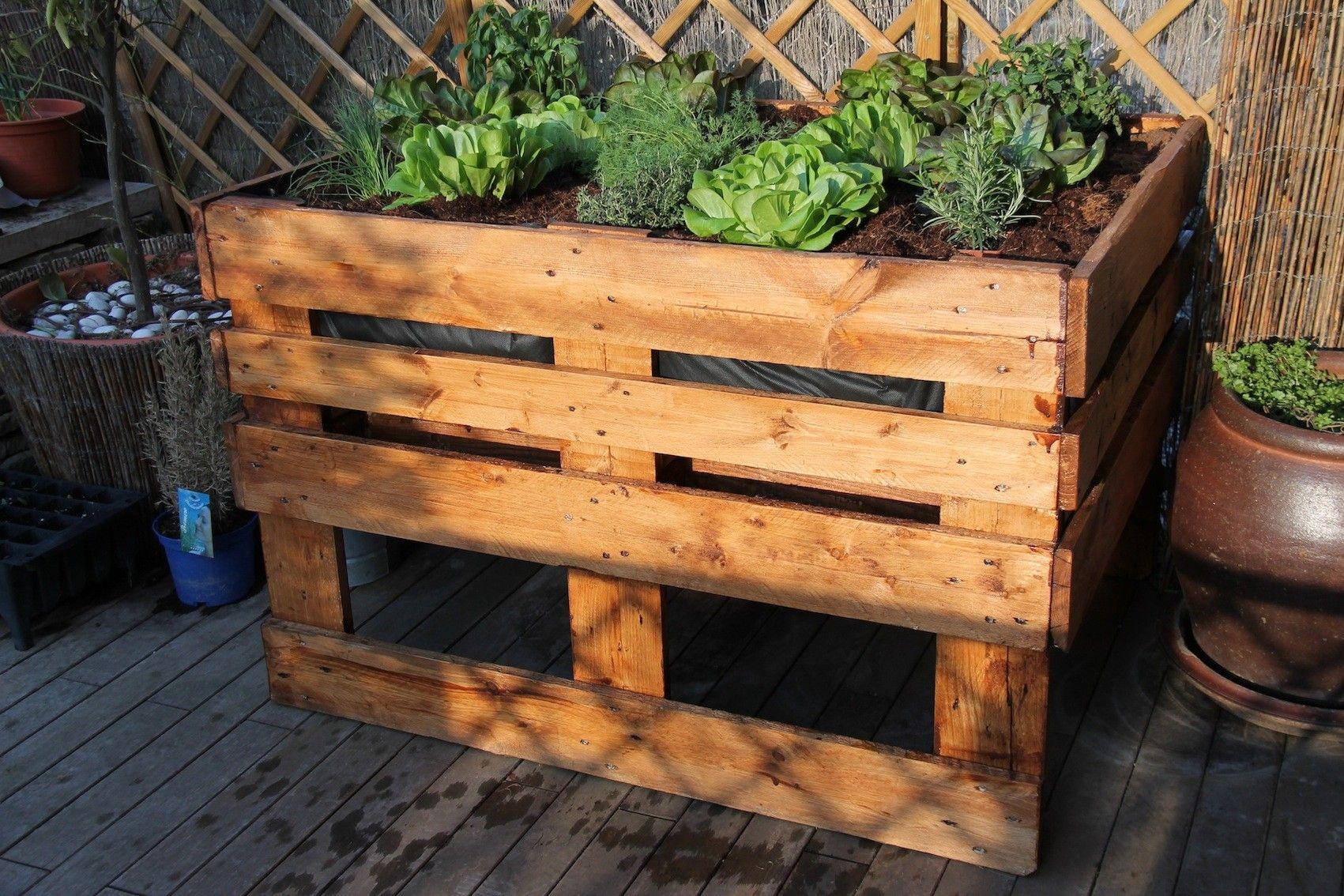 C mo hacer un huerto urbano ideas jardin con pallets for Jardines con palets