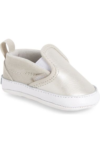Vans Slip-On V Crib Shoe (Baby) available at  Nordstrom  439b8de8c