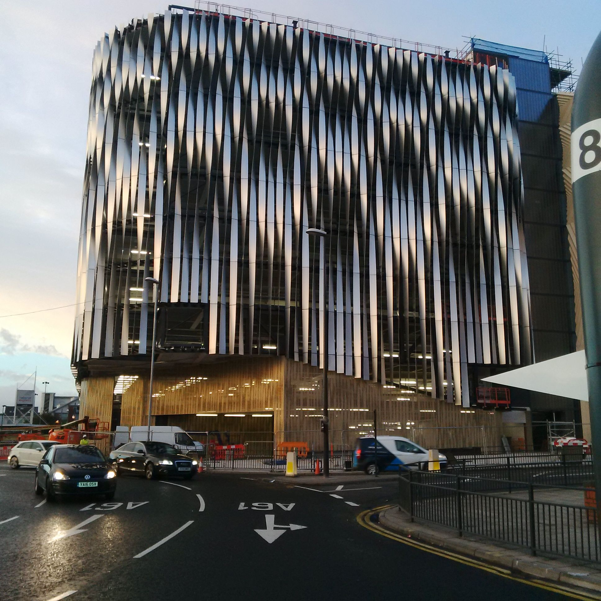 art through architecture leeds 39 victoria gate car park transformed with facade. Black Bedroom Furniture Sets. Home Design Ideas