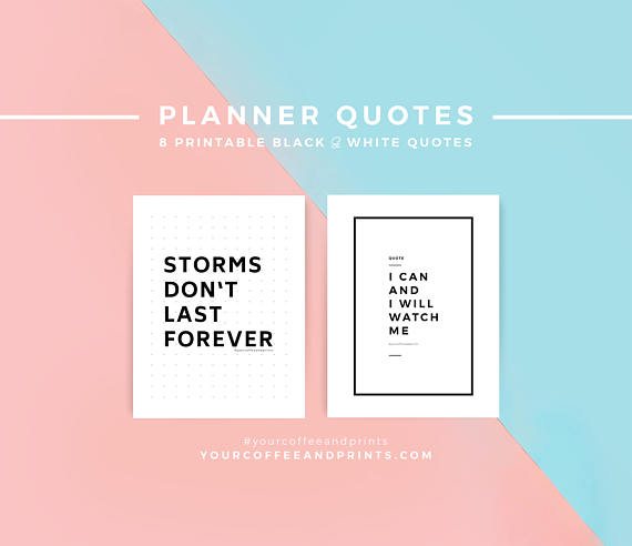 Planner Quotes, Planner Insert, Gift for Her Him, Inspirational
