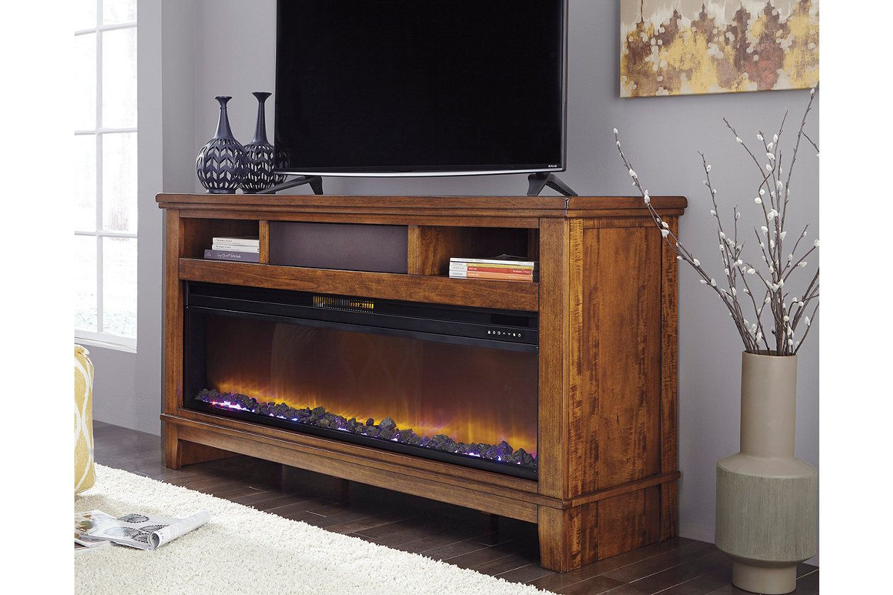 Ralene Tv Stand With Fireplace And Wireless Pairing Speaker