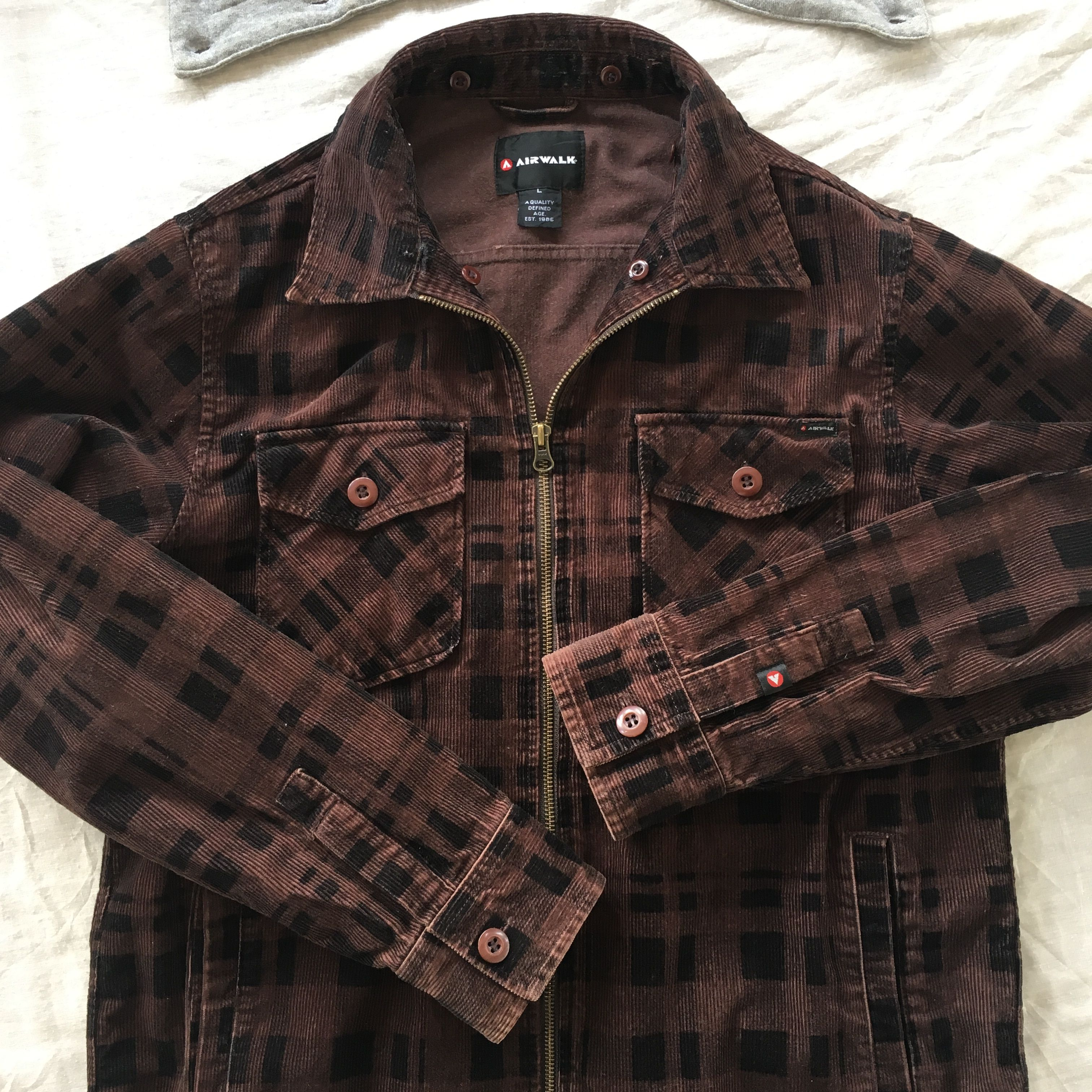 Airwalk Corduroy Plaid Cotton Jacket  Unisex Jacket  Mens  Etsy Up for sale  Visit to view detailed info