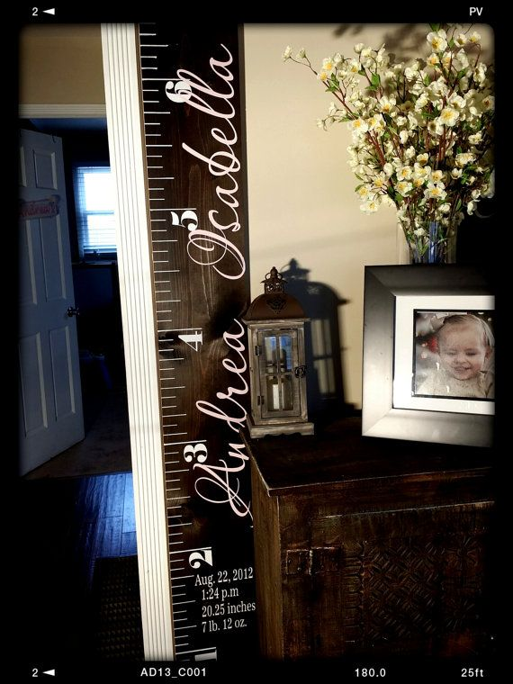 Wooden height chart kids height chart height by PaolaBrownShop