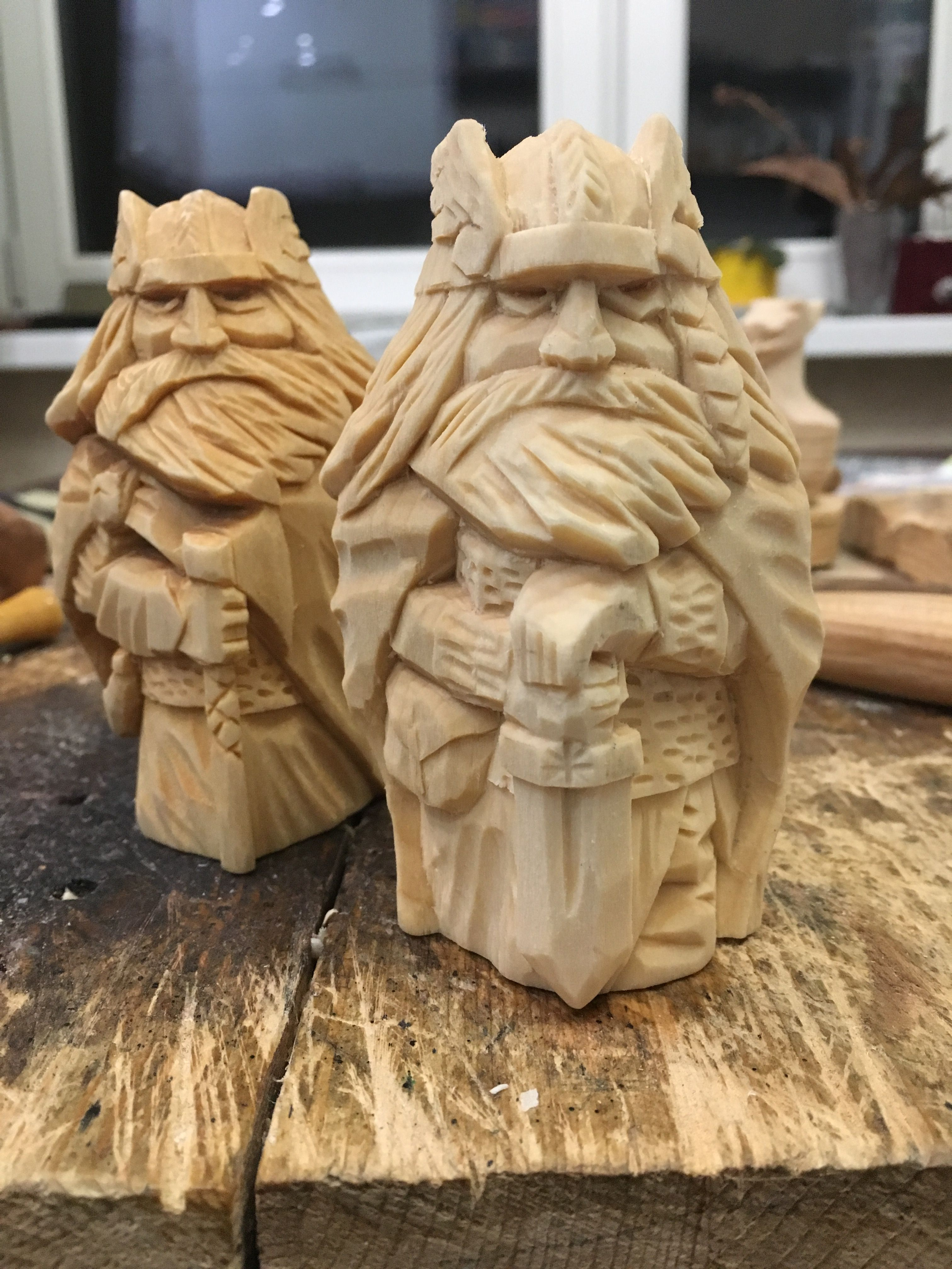 Vikings Wood Carving Wood Carving Faces Wood Carving