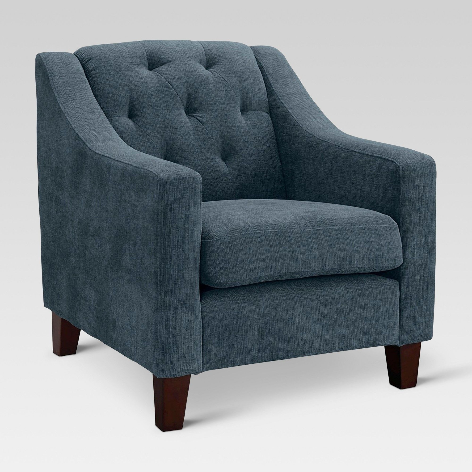 Best Felton Tufted Chair Threshold Blue Tufted Chair 400 x 300