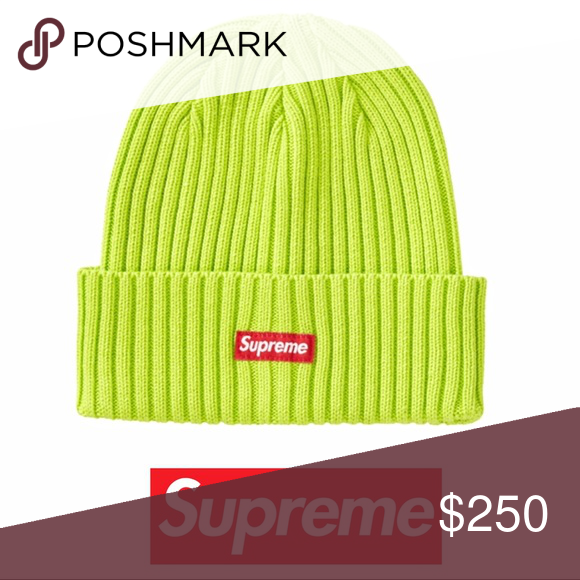 4368a0b9a SUPREME | NWT SLIME GREEN OVER DYED BEANIE LIME OS 100% authentic ...