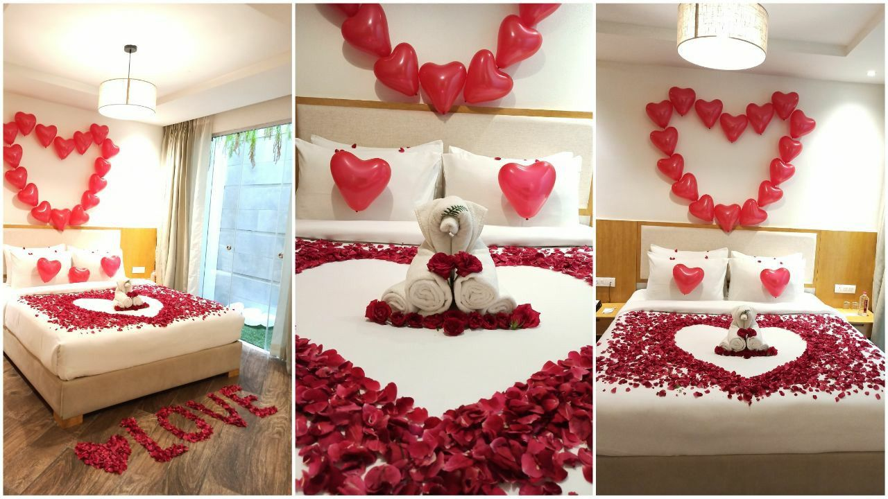 Romantic Bedroom Setup For Special Occasions Flower Room Decor Simple Room Decoration Easy Room Decor
