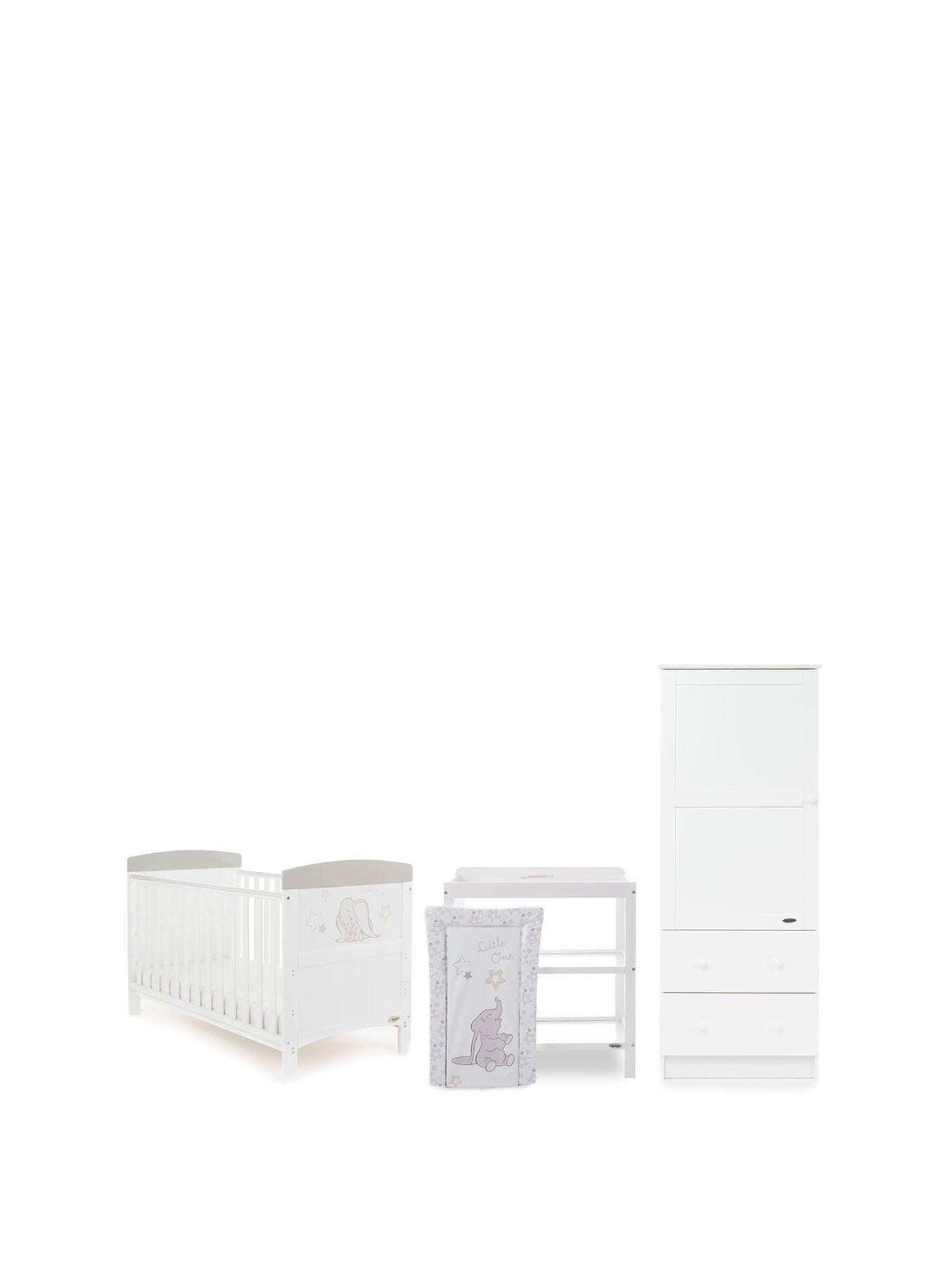 Obaby Dumbo 3 Piece Nursery Furniture Set Little One Nursery