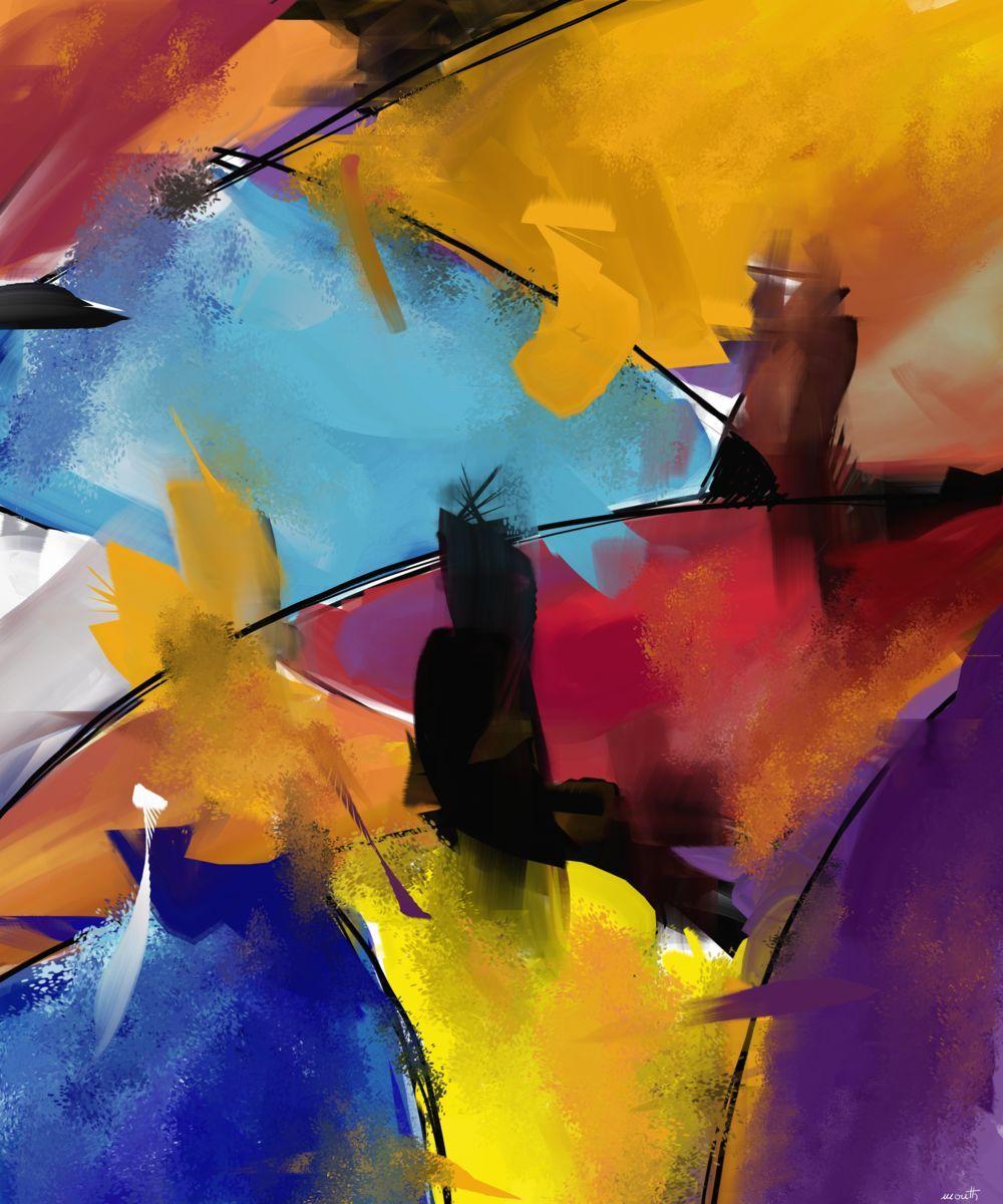Abstract 1412 (Arts numériques) par Patric Mouth Peinture numérique - 10 000 x 13 400 pixels - 2540 dpi