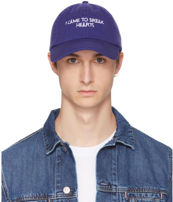 SSENSE Exclusive Blue and White I Came to Break Hearts Cap Nasaseasons xhWAd0T