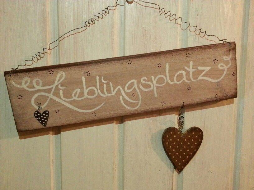 schild zum aufh ngen an eurem lieblingsplatz holz diy presents diy und wood signs. Black Bedroom Furniture Sets. Home Design Ideas