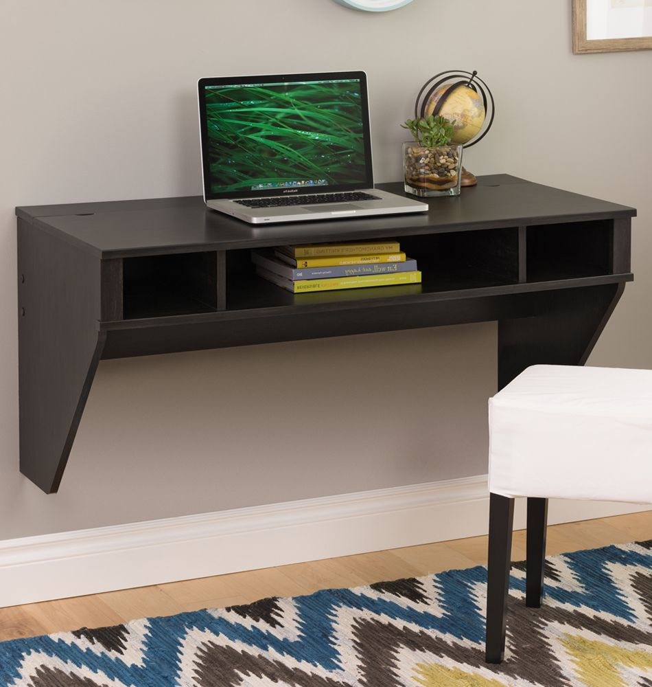 Create A Modern Work Space With This Floating Wall Desk