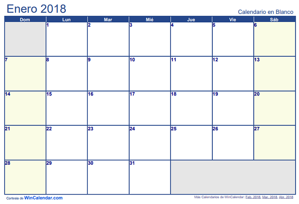 Calendario Mensual Word.Calendario 2018 En Word Excel Y Pdf Calendario