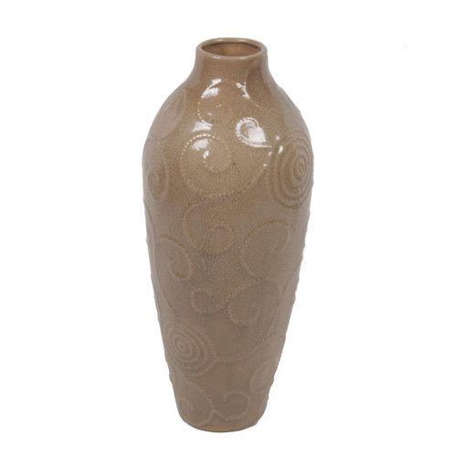 Privilege Ceramic Scroll Vase