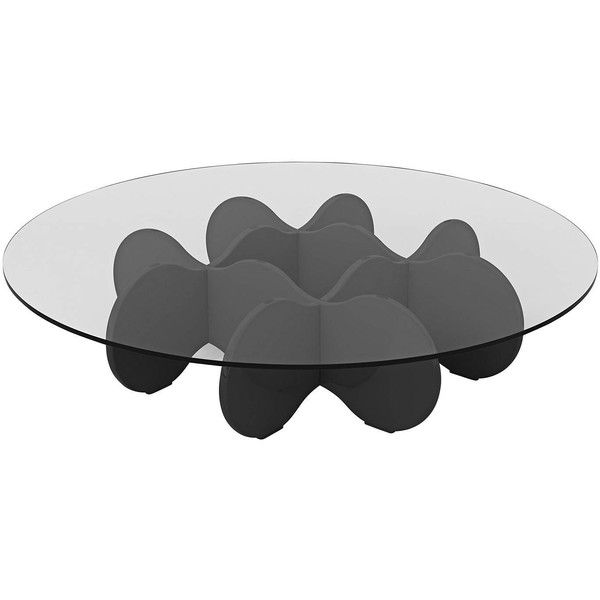 Waverly Glass Top Black Gloss Round Accent End Coffee Table ❤ liked on Polyvore featuring home, furniture, tables, accent tables, black accent table, onyx furniture, waverly, black occasional tables and waverly furniture
