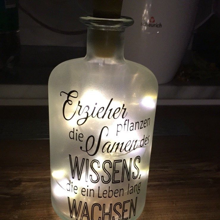 Decorative Bottle With Lighting Customized With Desired Text Led Light Bottle Bottlelight Fairy Lights Gift Bottle Light Bottle Lights Bottles Decoration Led Lights