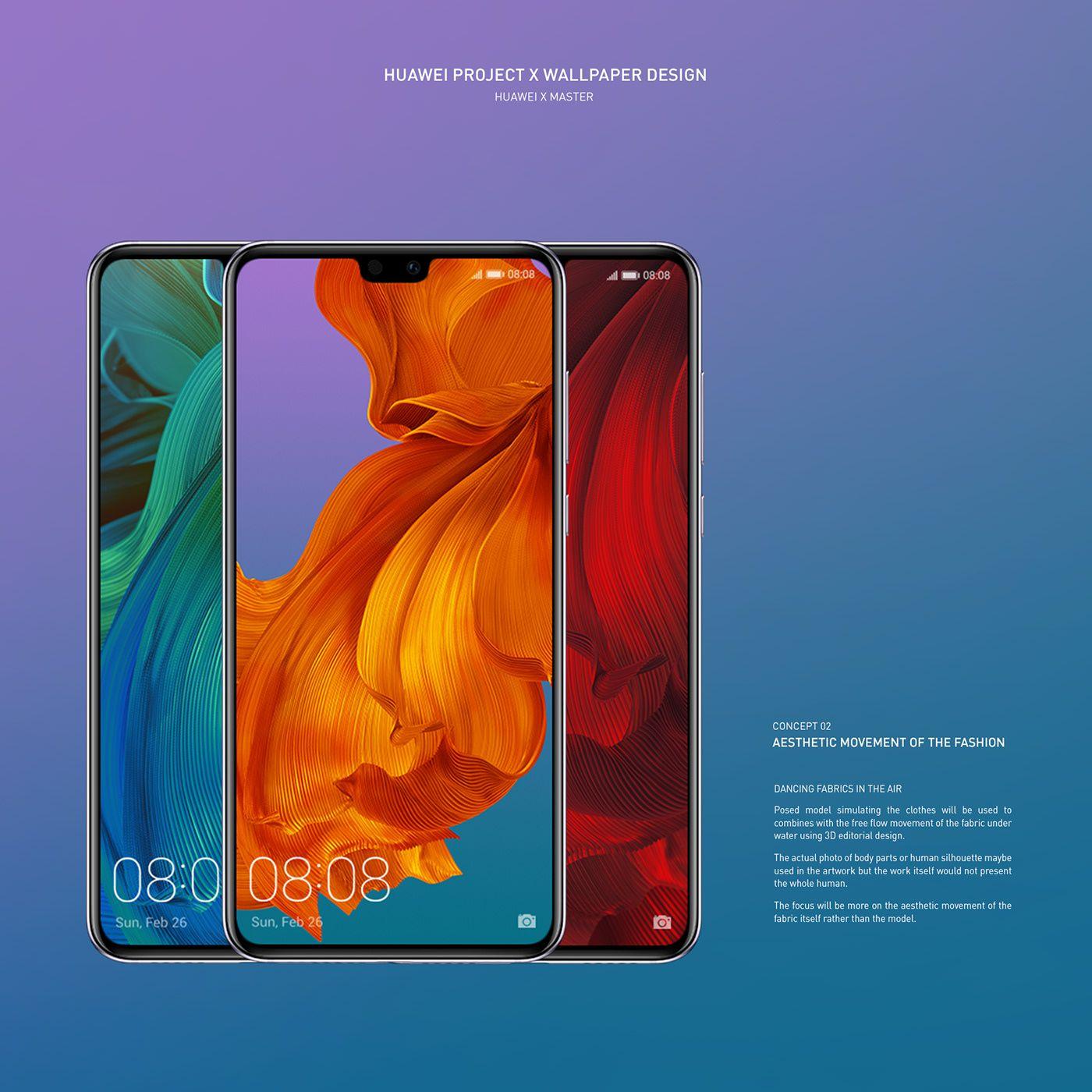 Huawei Project X Wallpaper Design On Behance Designer