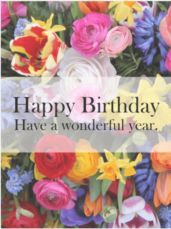 Pin By Paula Mulvenna On Birthday Images Happy Birthday Flower