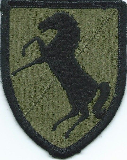 11th Armored Cavalry Regiment Subdued Embroidered US Army