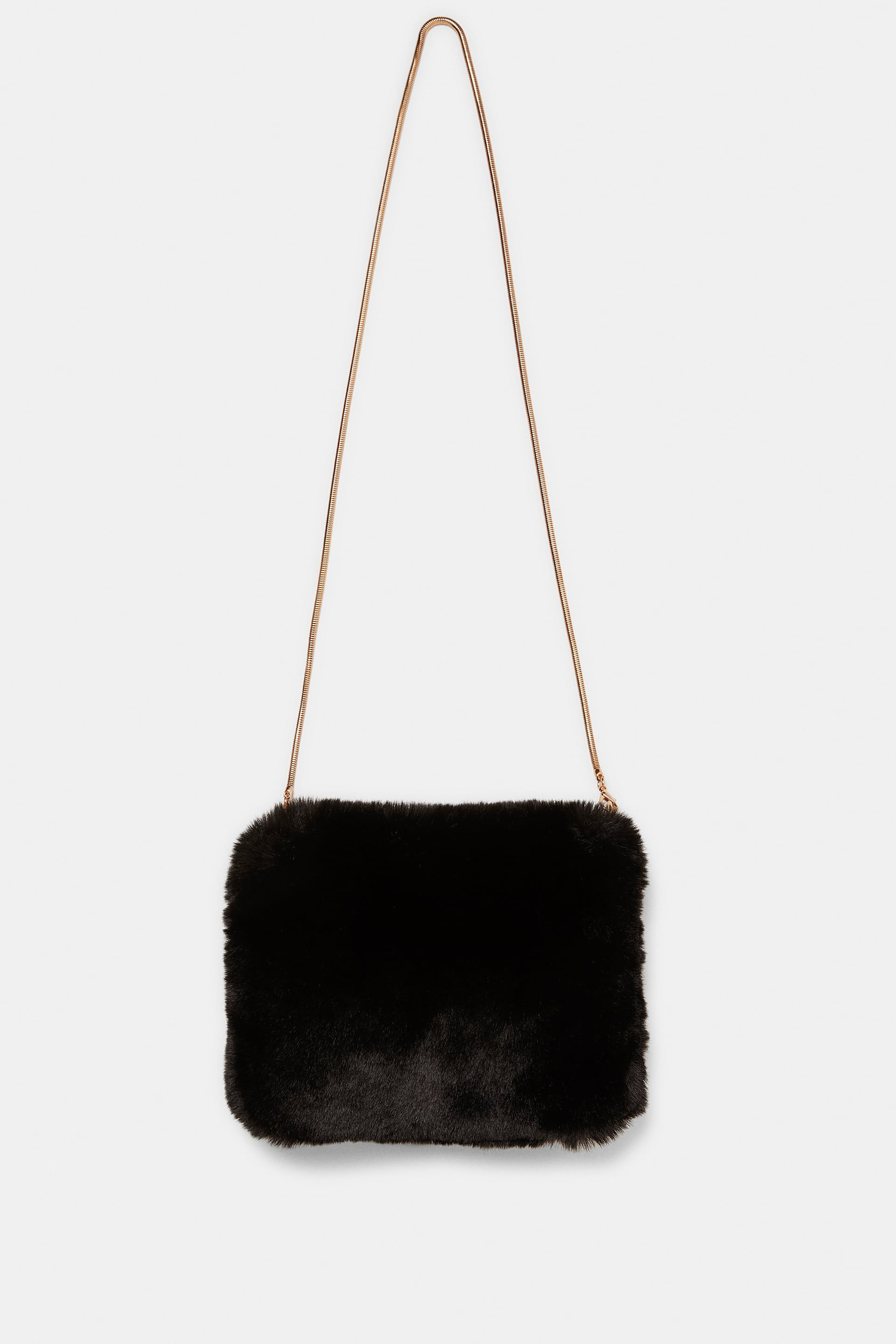 4e266061f3 Image 1 of FAUX FUR BAG from Zara