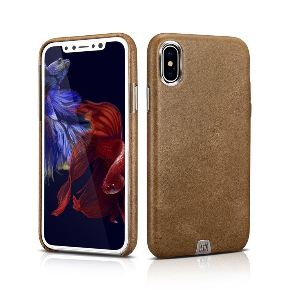 coque iphone x en cuir veritable