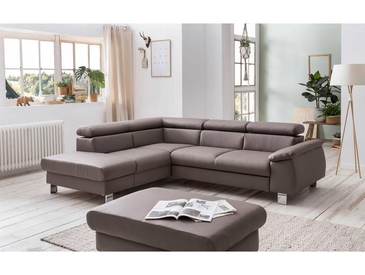 Cotta Ecksofa Komaris Braun Kunstleder Softlux Couch Home