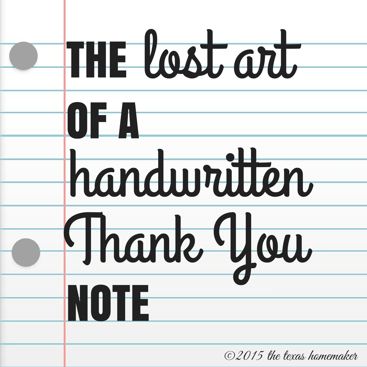 The lost art of a hand written thank you note