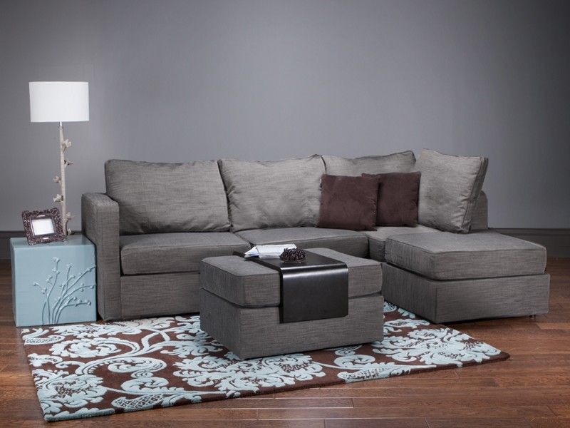 5 Series Four Cushion Chaise Sectional and