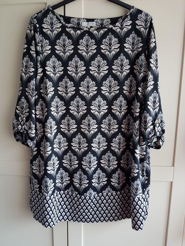 c5952282c32 Ladies John Rocha size UK 22 EU 50 Debenhams Black Print Tunic Top #fashion  #clothing #shoes #accessories #womensclothing #tops (ebay link)
