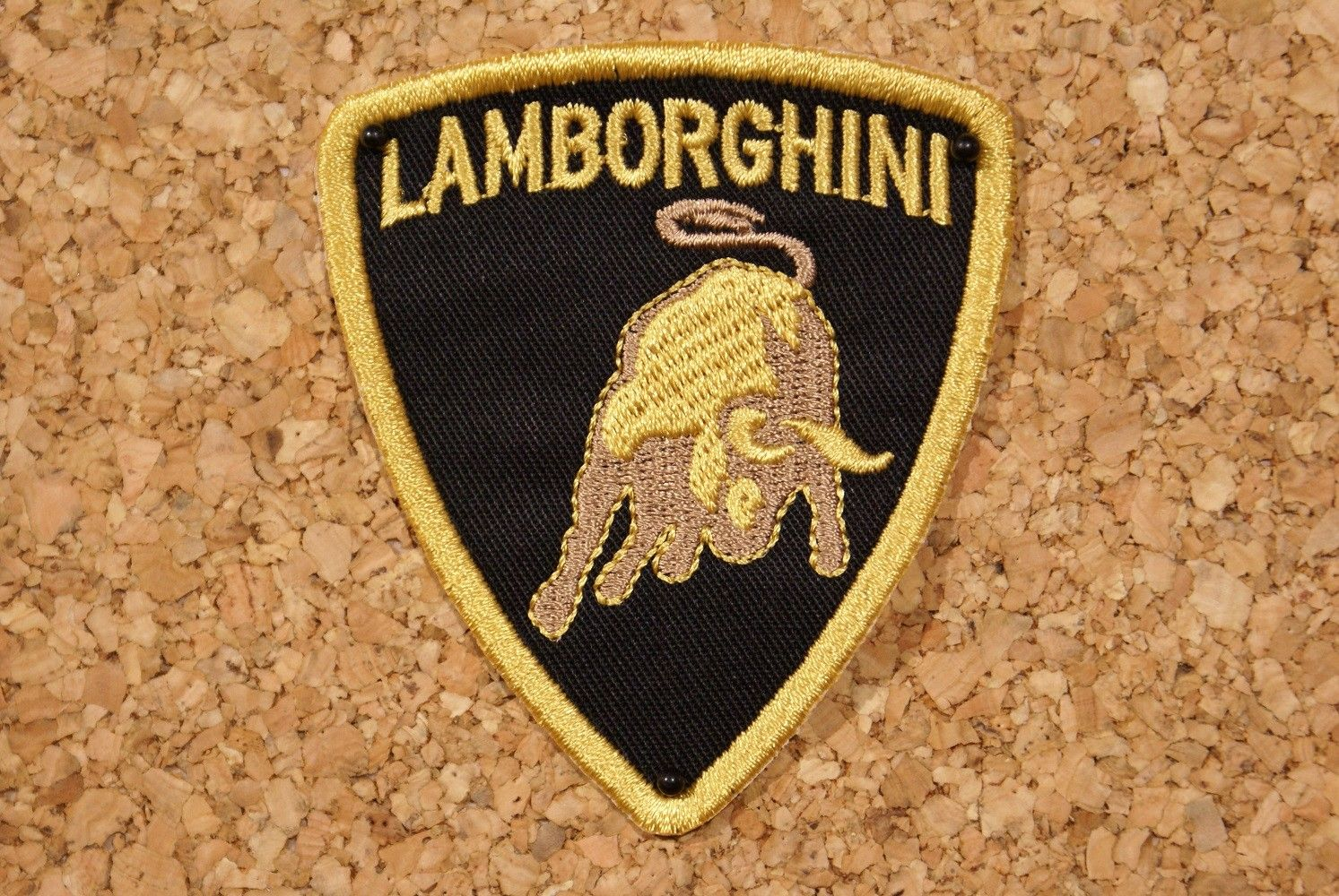 Patch Lamborghini Retro Wheels Lamborghini Ecusson Brode Style Retro Vintage