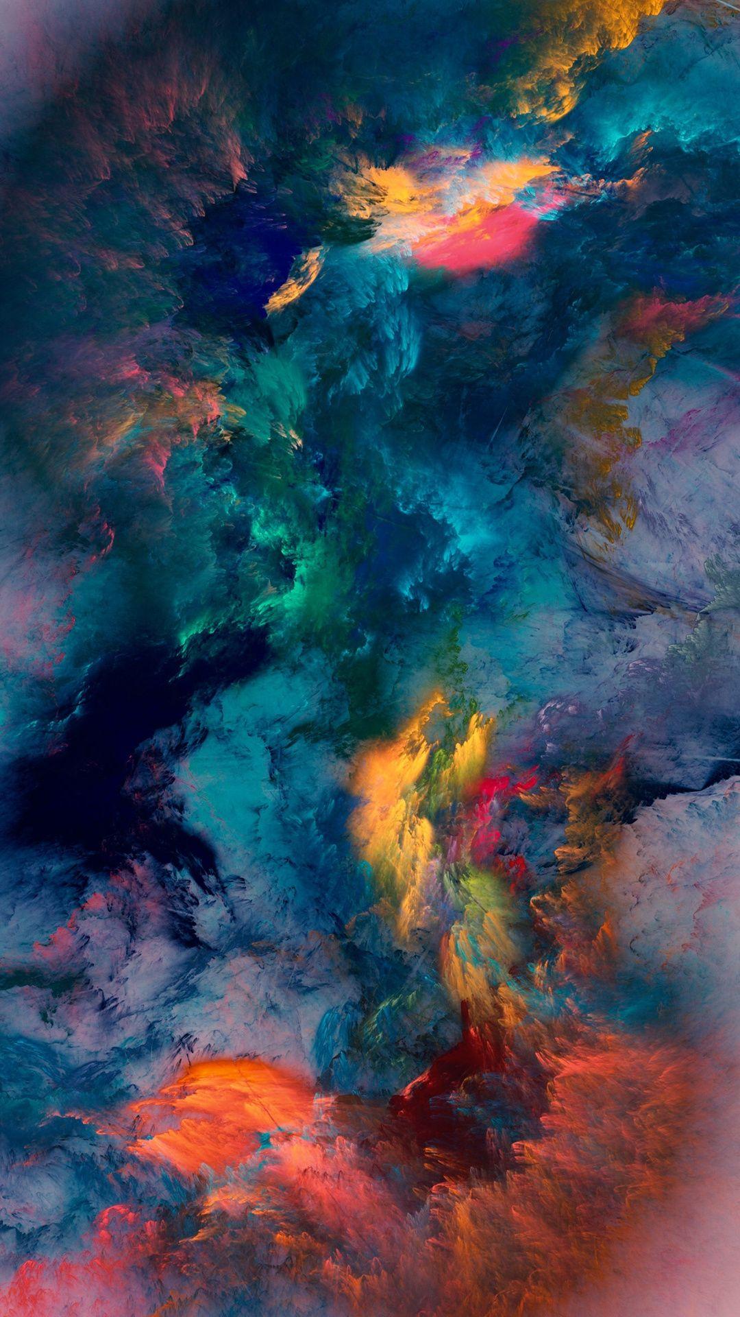 Colour Storm Wallpaper Digital Art Papeis De Parede Para Iphone Papel Celular