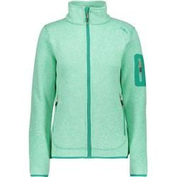 Photo of Cmp Damen Unterjacke Knitted Melange Fleece Woman Jacket, Größe 42 In Aquamint-Mint, Größe 42 In Aqu