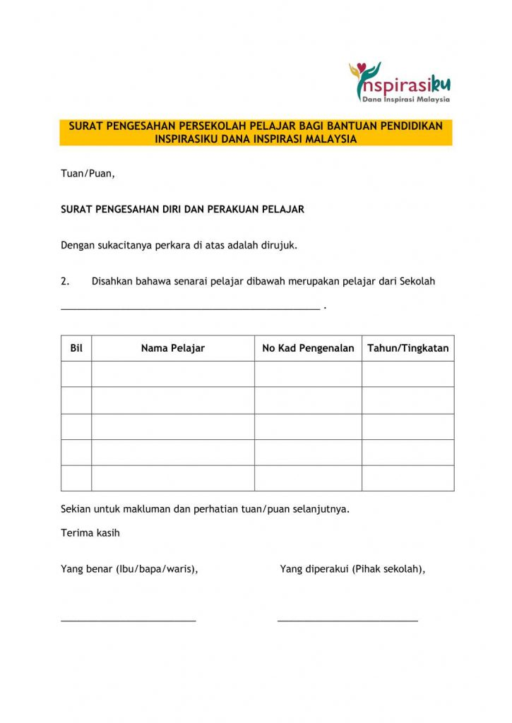 Permohonan Dana Inspirasi Malaysia Inspirasiku Yapeim 2020 In 2020 Malaysia Inspirasi Preschool Activity