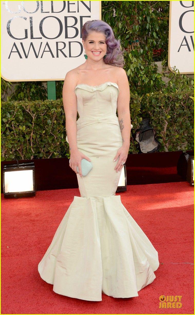 2013 Golden Globes: Kelly Osbourne in Zac Posen
