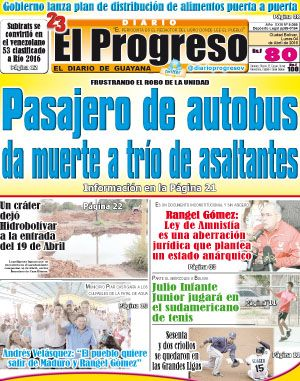Portada Noticias Destacadas Diario El Progreso Edición Digital Tvd Nestor Ciudad Bolivar