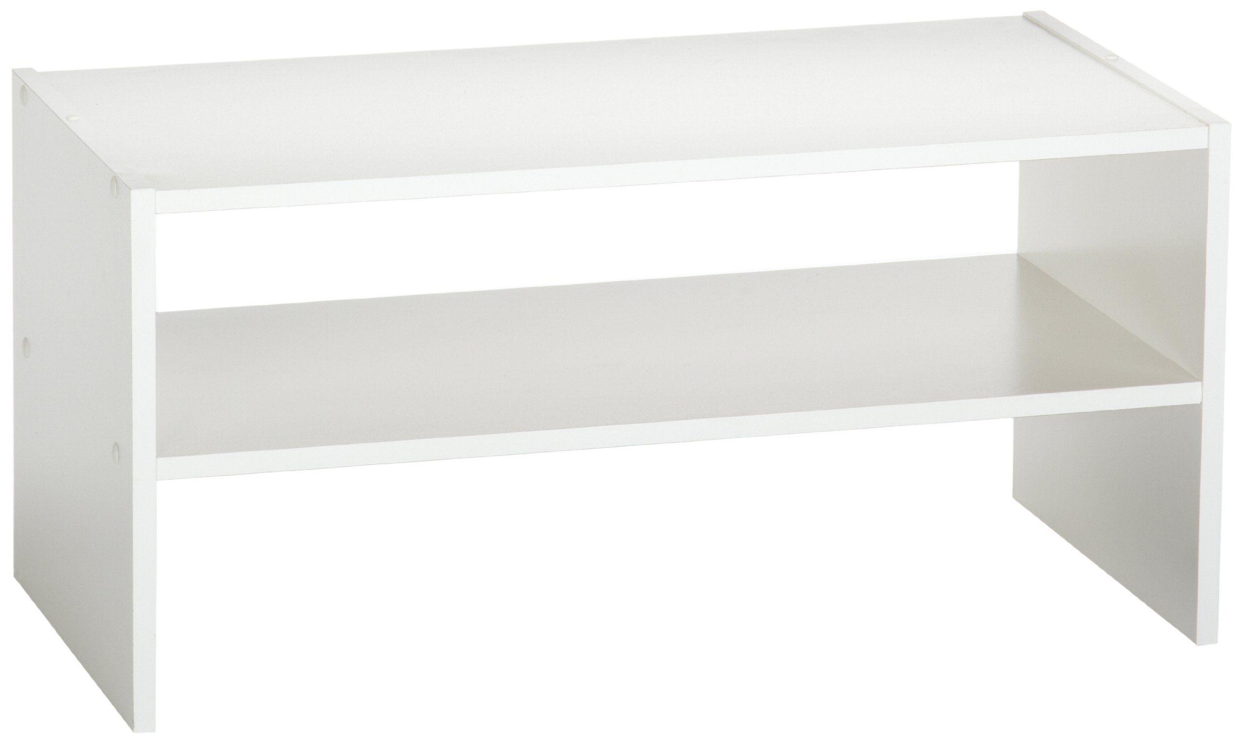 Closetmaid 8993 Stackable 24 Inch Wide Horizontal Organizer Shelves Space Saving Shoe Rack Linen Closet Organization