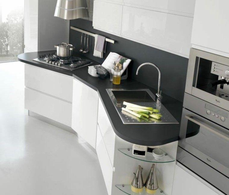 fotos de cocinas moderno vegetales rectangular - Cocinas Rectangulares