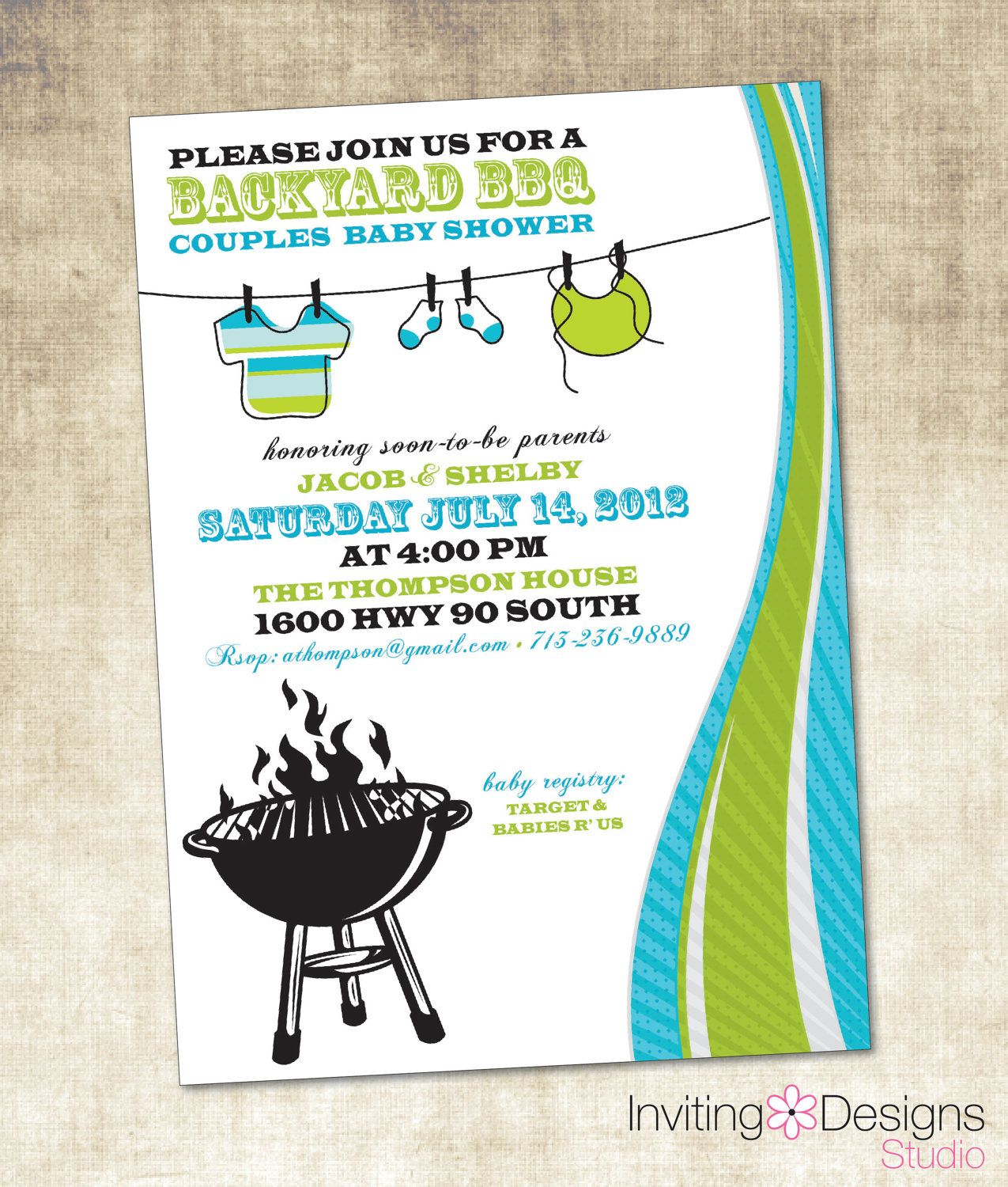 Baby Shower Bbq Invitations   Google Search