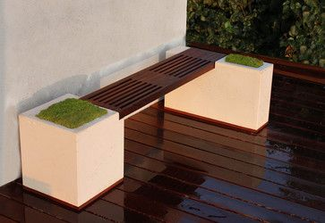 Concrete And Ipe Bench   Modern   Deck   Los Angeles   Stone Cold Concrete
