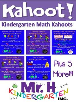 Kindergarten Math Kahoots (Common Core Aligned!) | iPad Apps For