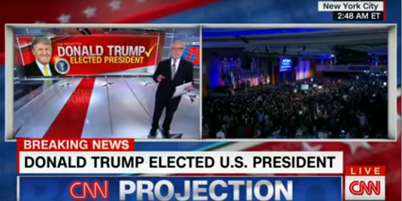 The Priceless Moment CNN officially Announced that Donald Trump has been elected the next POTUS! (LOVE, LOVE this VIDEO)